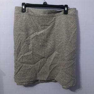 Loft plus size mini skirt